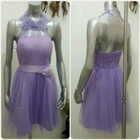 Short Dress Purple Color Small Size New