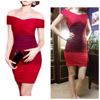 Ombre red brand new bandage dress