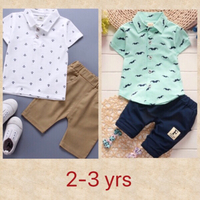 Used Anchor/ Moustache Print Polo/ Shorts  in Dubai, UAE