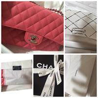 Used Authentic Chanel Double Flap In Caviar Leather Medium Size #chanel #almostnew #authentic in Dubai, UAE