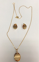 Used SET OF NECKLACE AND EARRINGS Non Tarnish in Dubai, UAE