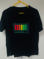 Led voice activated t- shirt (New)