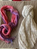 Used 2 long scarfs  in Dubai, UAE