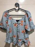 Used Floral Peplum Top in Dubai, UAE