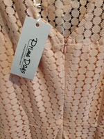Used pink netted dress size36 in Dubai, UAE