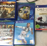 Used Ps4 used games GTA v and other  in Dubai, UAE