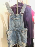 Used Denim Jeans Overall Shorts in Dubai, UAE