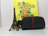 Used Gucci Men's Pouch black/Grey in Dubai, UAE