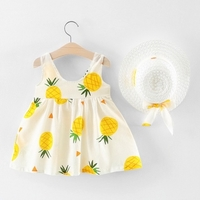 Used Bowknot pineapple dress with hat in Dubai, UAE