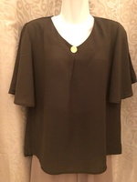 New olive/green Ladies top XL