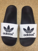 Used Adidas white slipper size 44 in Dubai, UAE