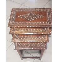 Used Side nesting table 4 High Quality Wood in Dubai, UAE