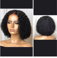 Used Curly wig with free gel nails🎁 in Dubai, UAE