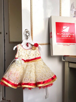 Used New Baby frock gown from kalyan silks  in Dubai, UAE