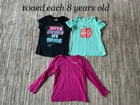 Used 3 tshirt for a girl 8 years old  in Dubai, UAE