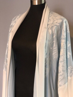 Used Embroidered Light Blue Abaya in Dubai, UAE