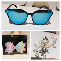 Used Fashion sunglasses & hair clip & hairpin in Dubai, UAE