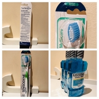 Used 3 bottle Listerine cool mint+free brush  in Dubai, UAE