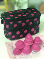 Used Hair Rollers + Cosmetic Bag Small in Dubai, UAE