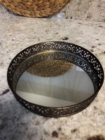 Used Mirrored Tray for perfumes/ candles in Dubai, UAE