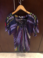 Used Emilio Pucci designer silk too S/M in Dubai, UAE