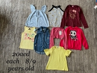 Used Bundle tshirts size 8/9 years old in Dubai, UAE