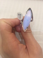 Used Moonstone silver plated ring. Size 17 in Dubai, UAE