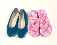 Used New Pink Slippers + Blue Flats Size 37 in Dubai, UAE
