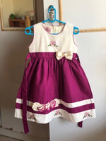Used Purple flower embroidered dress with bow in Dubai, UAE