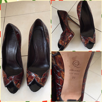 Alexander McQueen Open Toe Pumps Color Brown Preloved