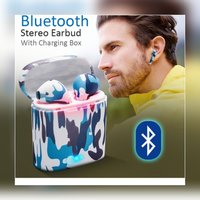Used New i7 coumflage earbuds with chaging bo in Dubai, UAE