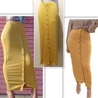 Used New dark yellow skirt size M in Dubai, UAE