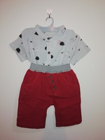 Used Boy's hedgehog pattern shirt with short in Dubai, UAE