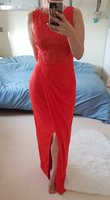Lipsy brand red evening gown size Medium