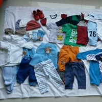 Used Baby Boy Clothes 1-3 Months 54 Items in Dubai, UAE