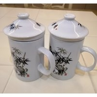 Used 2 tea cups with filter and lid in Dubai, UAE