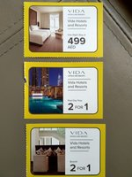 Used Vida Hotel & Resorts Voucher (3 items) in Dubai, UAE