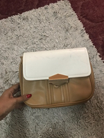 Cross body bag in nude