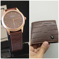 Used Original TOMI Watch☆+FREE Leather Wallet in Dubai, UAE