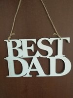 Used Best Dad. New. Wooden home decor. in Dubai, UAE
