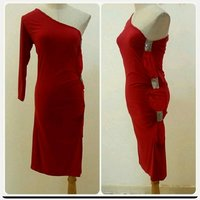 Used Red Dress ofshoulder for Women in Dubai, UAE