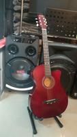 Used Brand New Acoustic Guitar- Novelty Red in Dubai, UAE