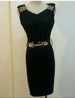 Brand new short dress with belt for her