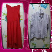 Papaya bundle office dress and blouse