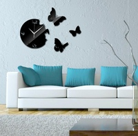 Used Cute elegant wall clock flying butterfly in Dubai, UAE