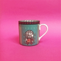 Mug with Indian Ornaments