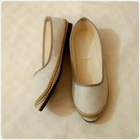 Flat Shoes Silver Color Size 39 New