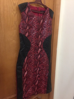 Used Original red snake print leather dress  in Dubai, UAE