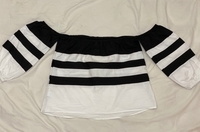 Used Black & White Striped Off Shoulder Top in Dubai, UAE