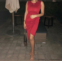 Used Red casual and official dress in Dubai, UAE